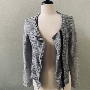 ZARA trafaluc gray tweed zipper closure jacket S